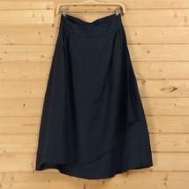 Cotton Linen Wrap Skirts Women A Line Long Casual Skirt, Khaki Army Green Black image 10