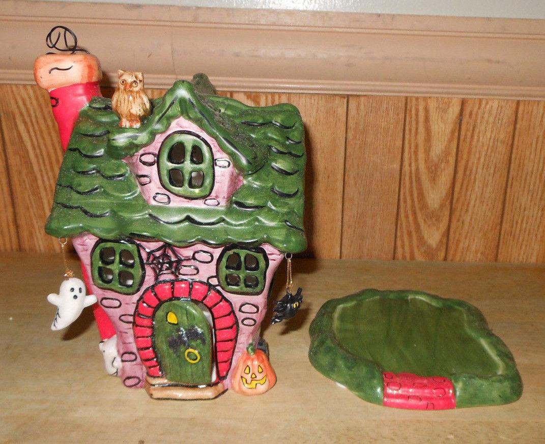 Ceramic Halloween Haunted House Tealight And 50 Similar Items