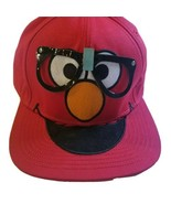Sesame Street Adjustable Snap Back Baseball Cap Red Elmo Wearing Glasses... - $12.26