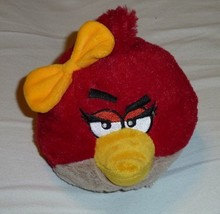 """Commonwealth 2011 Angry Birds Plush 5"""" RED GIRL BIRD With Yellow Bow No ... - $15.04"""
