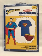 Superman Underoos Men T Shirt & Briefs UnderWear Set DC Comics Small or ... - $19.95