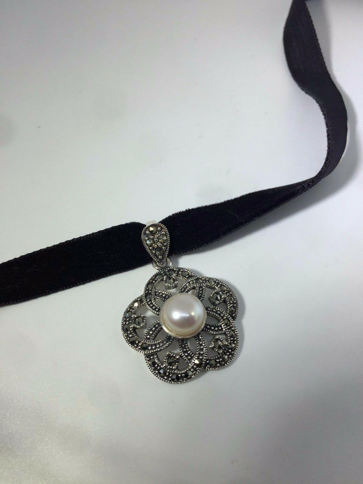 Vintage Vrai Perle D'Eau Douce Blanche Déco