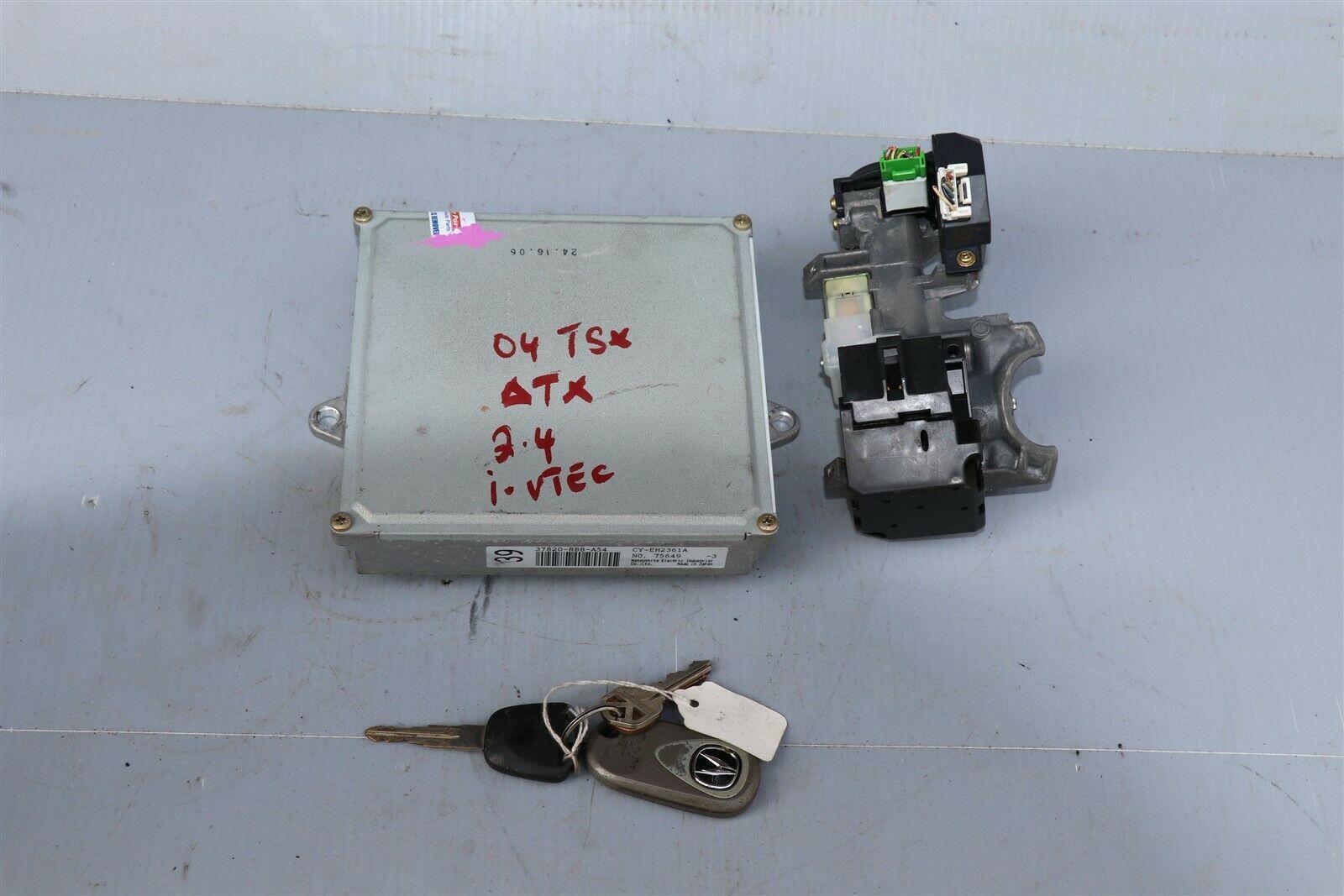 04 TSX 2.4L ATX ECU ECM Engine Module Ignition w/ Immo & 1 Key 37820-RBB-A54