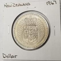 1967 New Zealand 1 Dollar World Coin - Decimalization Commemorative - $5.49
