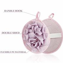 6 Pieces Bath Shower Pouf Sponge Mesh Pouf Shower Ball Exfoliating Body Loofah S image 3