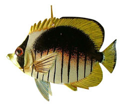 Brown White Yellow Tropical Fish Christmas Holiday Ornament TFO58 6 Inch... - $19.98