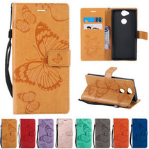Magnetic Strap Flip Leather Wallet Card Slots Case Cover For Sony Xperia Phones - $62.16