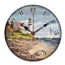 "George Jimmy 10"" Retro Unique Lighthouse Wall Clock Decor Silence Hangin... - $48.62"