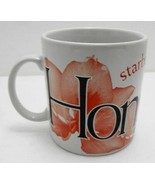 Starbucks Hong Kong City Series 16 oz Coffee Mug 2002 Jan Belson Red Orchid - $44.10