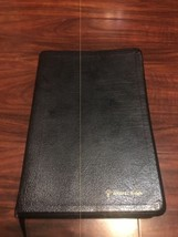 NIV Thinline Bible ~ Black Bonded Leather ~ 1996 Text - Red Text - $28.95