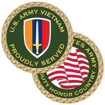 "United States Army Vietnam Proudly Served 1.75"" Challenge Coin - $17.14"