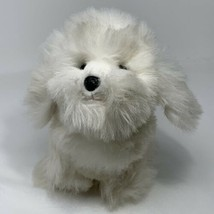 "Russ Berrie Tinsdale Puppy Dog White Soft Stuffed Animal 9"" Tall Machine... - $14.85"