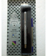 Parker Vector Special Edition CT Roller BallPoint Ball Pen 3D Block Silv... - $11.99