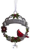 Gnz Attractive Zinc Christmas Cardinal Ornaments- Love and Joy - $7.43