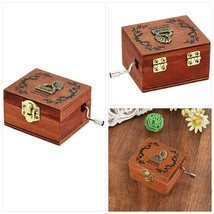 DIFFMELY Music Box Wooden Retro Phonograph - Castle in The Sky, Natural ... - $19.70