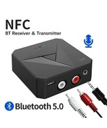 Bluetooth 5.0 Receiver Transmitter 3.5mm AUX Jack Wireless Audio Adapter - $18.15
