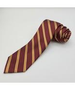 """Paul Frederick 100% Silk Neck Tie • Maroon W/ Diagonal Stripe • 60"""" X 3"""" - $19.78"""