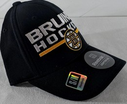 new arrival 00ad6 4bf5a LZ Reebok Adult Fitted S M Boston Bruins Hockey NHL Baseball Cap Hat NEW.