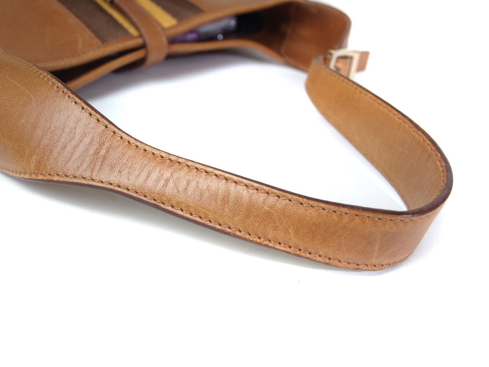 Authentic GUCCI Leather Brown Shoulder Bag GS10323L