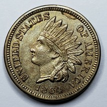 1864 Copper Nickel Indian Head Cent Penny Coin Lot 519-98