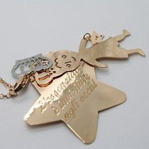 925 Sterling Silver Necklace Laminated Pink Gold in le Fairytale Prince & Star image 7