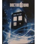 BBC Doctor Who Tardis Micro Raschel Blanket Throw Matt Smith NEW - $24.99