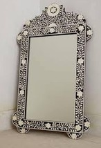 Anthropologie Horchow French Moroccan Bone Inlay Arch Wall Mirror Vanity... - $688.05