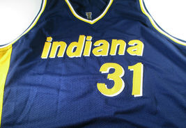 REGGIE MILLER / NBA HALL OF FAME / AUTOGRAPHED INDIANA PACERS CUSTOM JERSEY COA  image 2