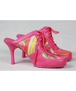 ANNE MITCHELL HIPPEE FABRIC 60'S MOD NEW SEXY SHOES ATHLETIC BALLER HIGH... - $29.70