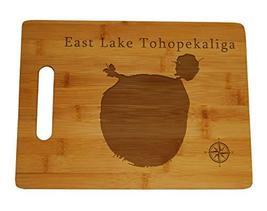 "East Lake Tohopekaliga Map Engraved Bamboo Cutting Board 9.75x13.75"" Flo... - $34.64"
