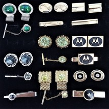 Lot of Vintage Cuff Link and Tie Pin Clip Bar Tack Lot of 8 Sets - $73.88
