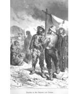 UTAH Rowdies in  Streets of Corinna Corinne - 1883 German Print - $16.20