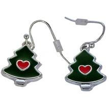 Avon Holiday Dangle Earrings Christmas Tree - $11.88