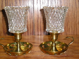 2 HOMCO 1194-BD Diamondlite Clear PEG Votive Cup Candle Holders - $16.99