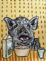 animal Art oil painting printed on canvas home decor PIG art PRINT  - $14.99+