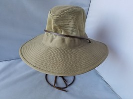 Dorfman Pacific Headwear Men's Hat Cotton Safari Bucket Mesh Chin Strap ... - $22.65