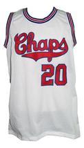 Manu Ginobili #20 Dallas Chaps Retro Basketball Jersey New Sewn White Any Size image 4
