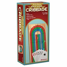 Family Classics Cribbage - Solid Wood Continuous 3 Track Board with Built-In Sto - $10.69