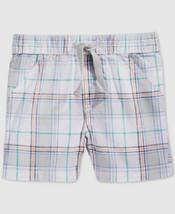 First Impressions Baby Boys' Plaid Shorts, Light Granite, Size 3-6 - $8.90