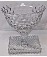 Vintage Fostoria American Crystal Glass Punch Bowl with Cake Stand Base - $232.65