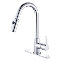 Kingston Brass GS8781CTL Single Handle Pull Down Kitchen Faucet, Chrome - $150.00