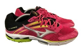 Mizuno Wave Inspire 9 Hot Pink Lime Running Athletic Sneakers Womens Siz... - $49.00