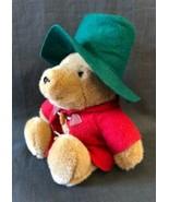 Paddington Bear Plush Eden Red Jacket Coat Green Felt Hat Stuffed Animal... - $24.70
