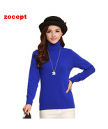 zocept  Fashion Women's Cashmere Sweaters Winter Female Solid Color Turt... - $27.56