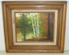 EDWARD WARNAGIRIS IMPRESSIONIST LANDSCAPE OIL PAINTING - $99.00