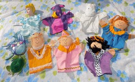 CUTE LOT 9 Assorted Hand & Finger Puppets Children's Fantasy Dragon Cind... - $19.95