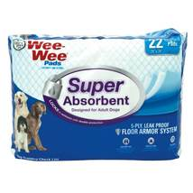 """Four Paws Wee-Wee Super Absorbent Pads 22 count White 24"""" x 24"""" x 0.1"""" - $9.99"""