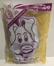 """Vtg 1987  SET OF 2 Fancifoil Bunny CAKE PANS BAKE COOK 10 1/4"""" X 7 1/2 """"... - $35.52"""