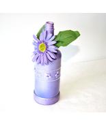 Lavender Rhinestone Floral Decorative Liquor Bottle Gift Handmade Home D... - $11.00
