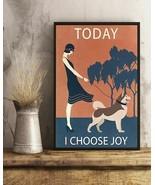 Vintage Girl I Choose Joy Alaskan Malamute, Art Prints Poster Home Decor... - $25.59+